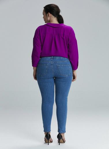 Love My Body Jean Pantolon Lacivert